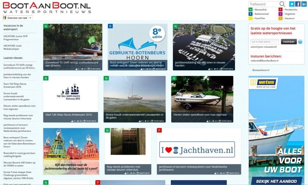 BootAanBoot.nl is dé actuele site voor watersportnieuws