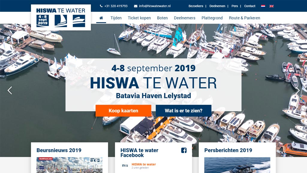 Hiswa te water 2019 website