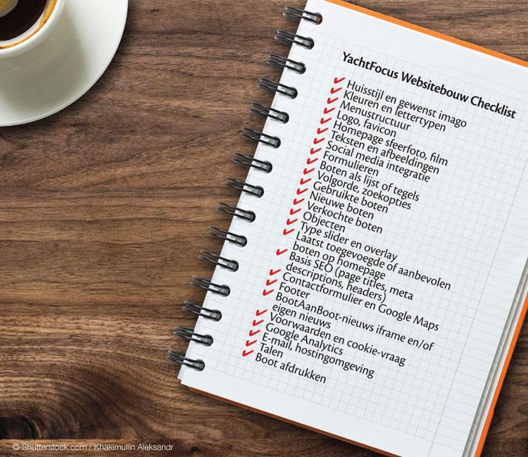 Websitebouw checklist YachtFocus